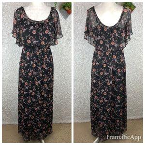 LC Lauren Conrad Blouson Maxi Dress | 6